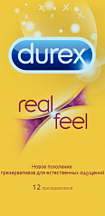 Презервативы Durex Real Feel Gold 12