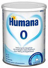Humana 0 Смесь для недоношенных детей 400 гр