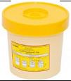 Одноразовая герметичная емкость для утилизации игл, 1 литр